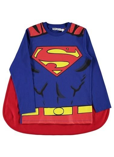 Superman Superman Erkek Çocuk Pelerinli Sweatshirt 6-9 Yaş Saks Mavisi Superman Erkek Çocuk Pelerinli Sweatshirt 6-9 Yaş Saks Mavisi Renkli